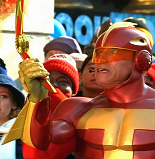 Turbo Man (Arnold Schwarzenegger in Jingle All The Way) with his boomerang