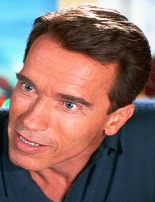 Turbo Man (Arnold Schwarzenegger in Jingle All The Way) face closeup