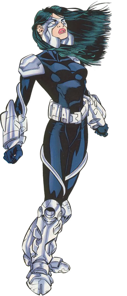 Turbo (Marvel Comics) (New Warriors) (Musashi) black modern suit