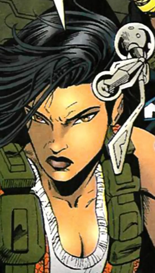 Turbo (Marvel Comics) (New Warriors) (Musashi) face closeup angry
