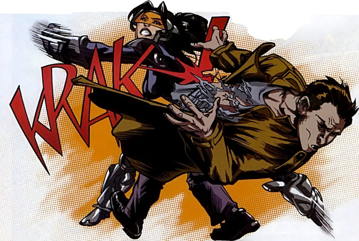 Turbo (Marvel Comics) (New Warriors) (Musashi) punching Urich