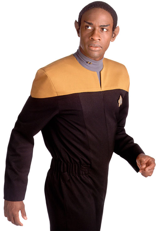 Tuvok (Tim Russ in Star Trek) looking surprised