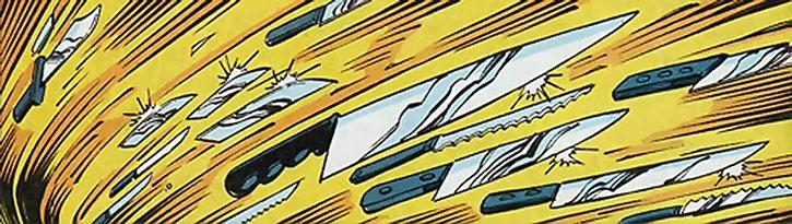 Flying kitchen knives