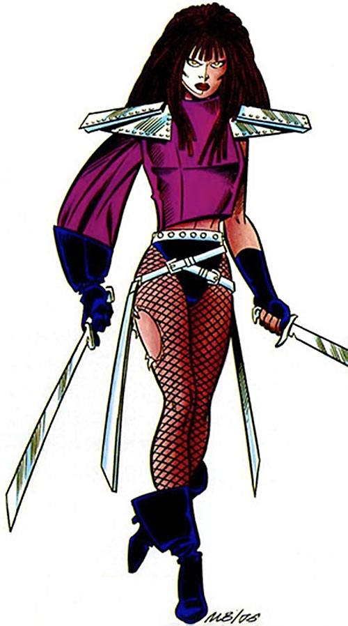 Typhoid (Daredevil character) (Marvel Comics by Nocenti) TSR art
