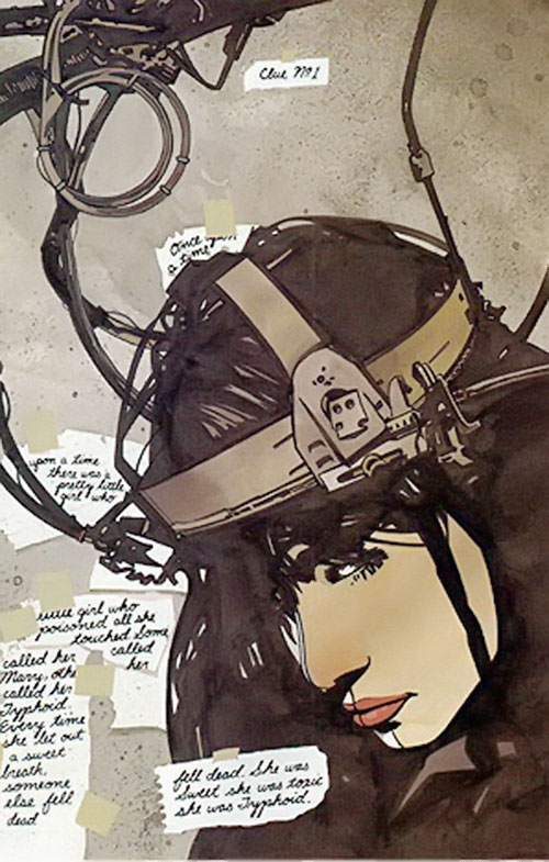 Typhoid (Daredevil character) (Marvel Comics by Nocenti) with EEG headgear