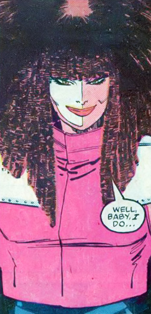 Typhoid (Daredevil character) (Marvel Comics by Nocenti) smiling coyly