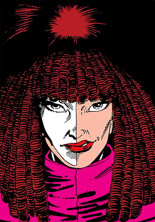Typhoid (Daredevil character) (Marvel Comics by Nocenti) smirking