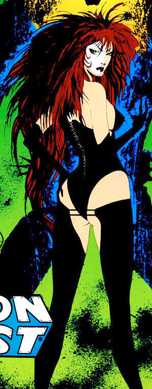 Typhoid (Daredevil character) (Marvel Comics by Nocenti) leather lingerie back view