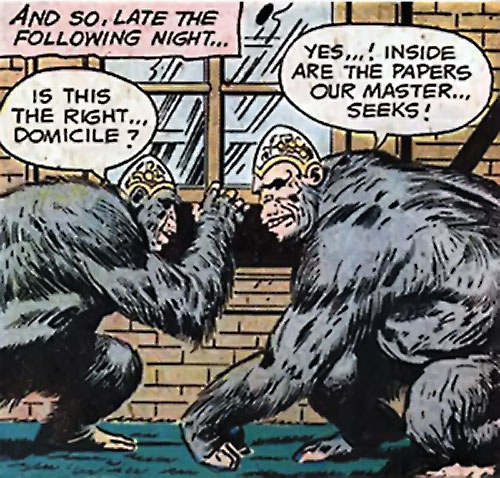 Gorillas with dome brains (DC Comics) (Sandman)