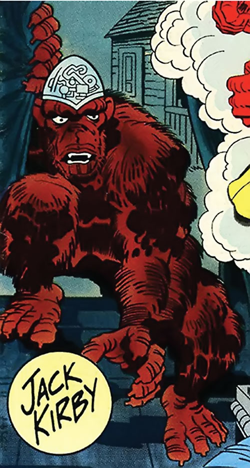 Gorilla with a computer brain dome (DC Comics) (Sandman)