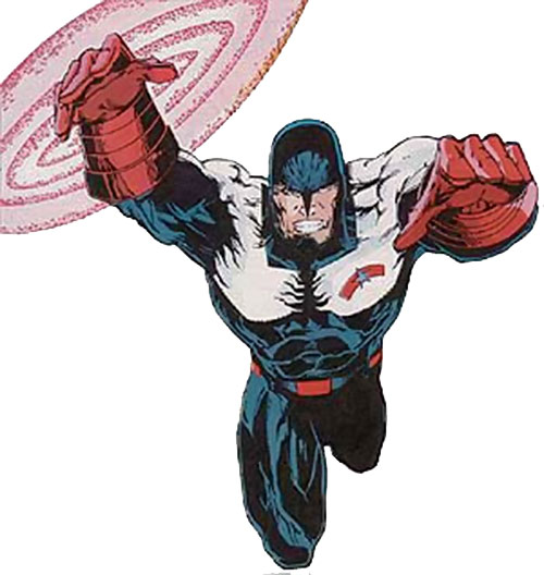 USAgent (Marvel Comics) with the Force Works costume and shield