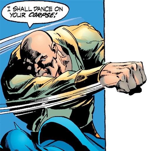 Ubu (DC Comics) punching Batman
