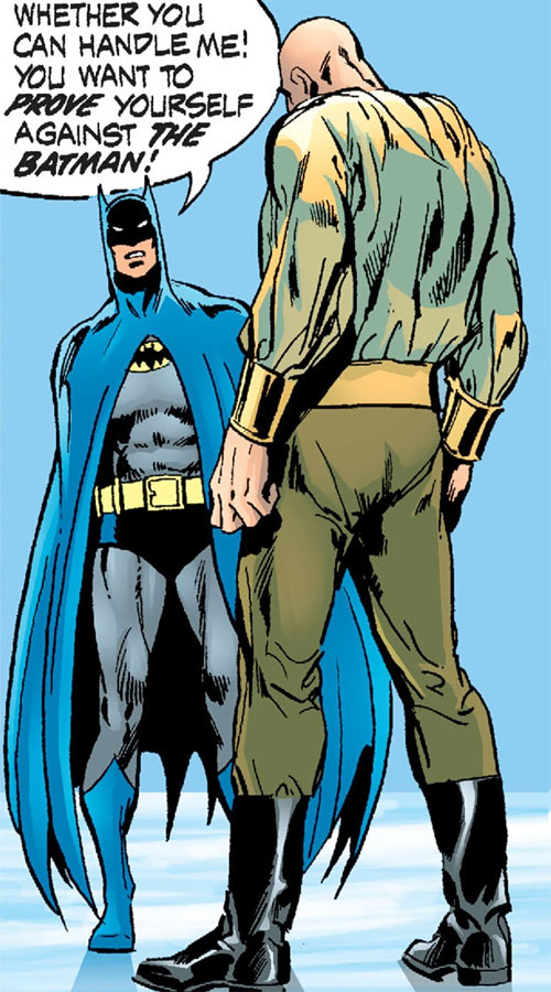 Ubu (DC Comics) facing Batman