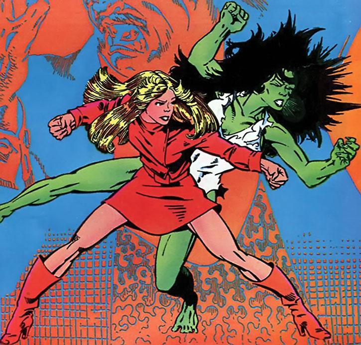 Ultima Wordman vs. the She-Hulk
