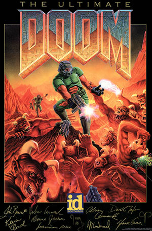 Ultimate Doom video game poster
