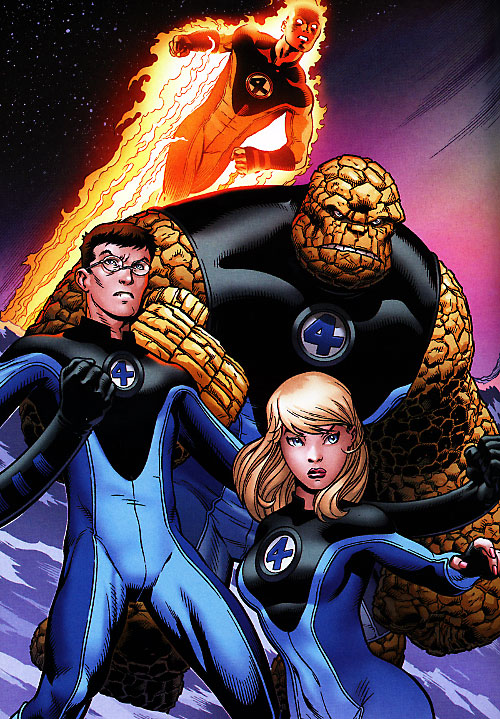 Ultimate Fantastic Four (Marvel Comics) on a mountain