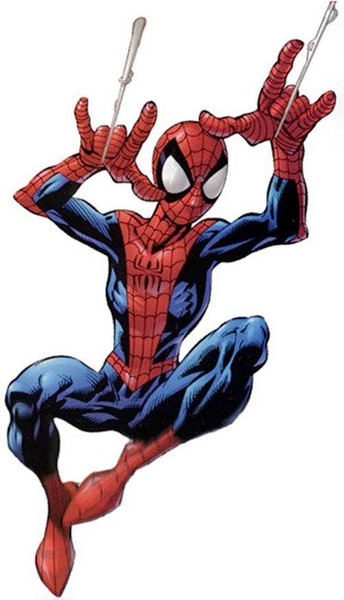 Ultimate Spider-Man (Peter Parker) slinging web