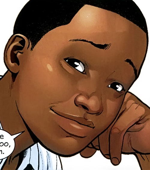 Spider-Man (Miles Morales) (Ultimate Marvel Comics) face closeup