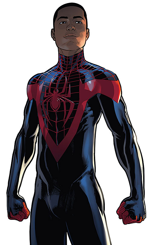 Spider-Man (Miles Morales) (Ultimate Marvel Comics) black costume no mask