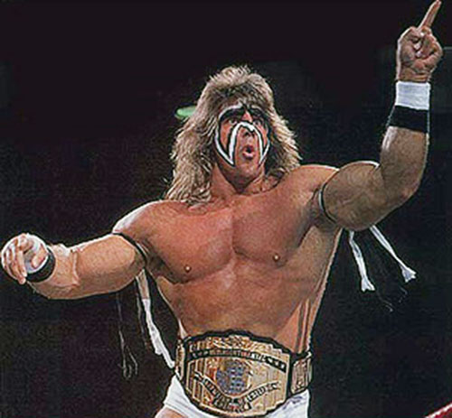 Ultimate Warrior preaching the gospel of destrucity