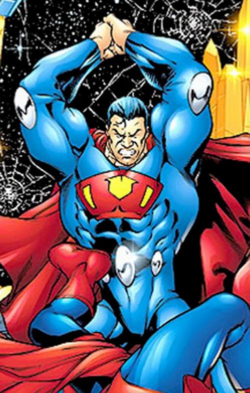 Ultraman (Morrison Earth-2 evil Superman) (DC Comics) prepares a haymaker