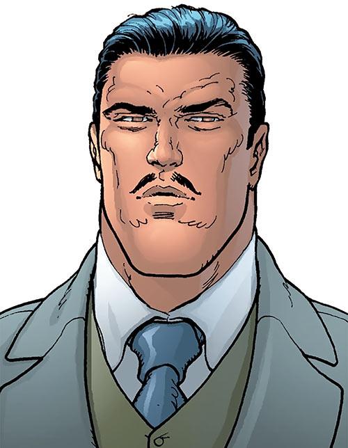 Ultraman (Morrison Earth-2 evil Superman) (DC Comics) in his Clark Kent identity
