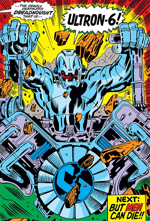 Ultron-6 (Avengers enemy) (Marvel Comics) appears