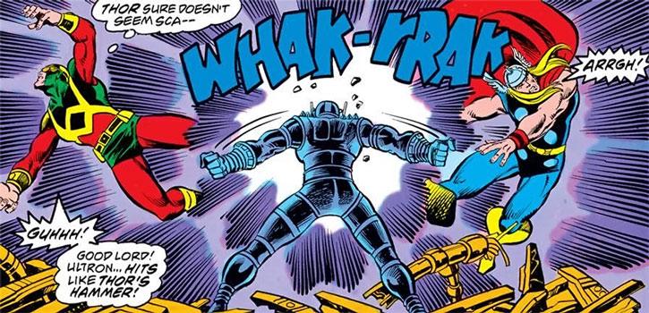 Ultron vs. Wonder Man and Thor