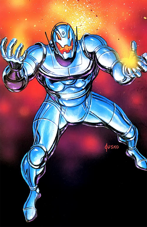 Ultron 8 through 12 (Avengers enemy) (Marvel Comics) by Jusko