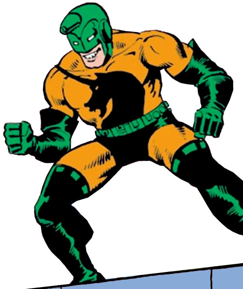 Unicorn (Iron Man enemy) (Masaryk) (Marvel Comics) in the orange and green costume