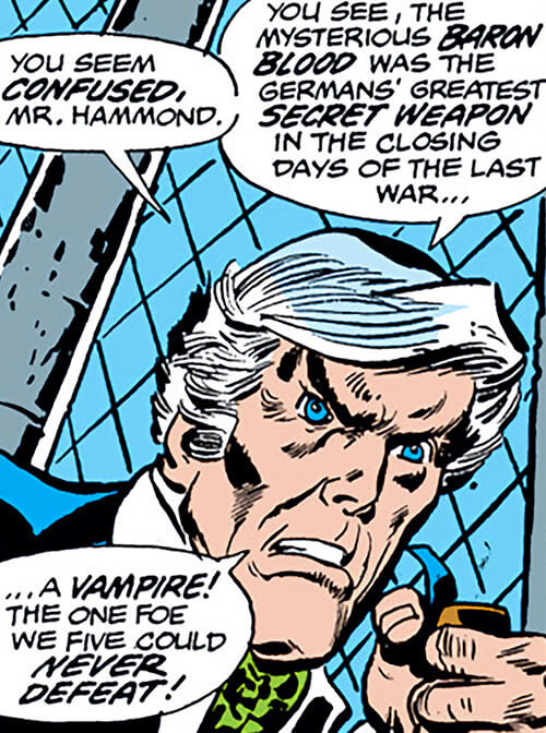 Union Jack of the Invaders (Lord Falsworth) (Marvel Comics) in his old age