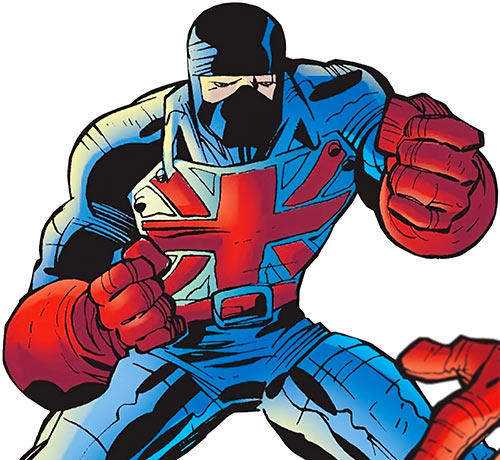 Union Jack of the Invaders (Lord Falsworth) (Marvel Comics) blue variant costume