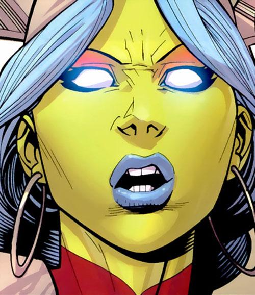 Universa (Invincible comics) face closeup