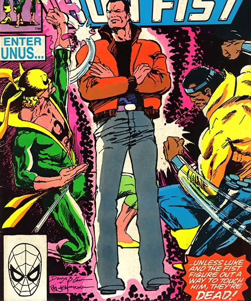 Unus the Untouchable (X-Men enemy) (Marvel Comics) vs. Iron Fist and Power Man
