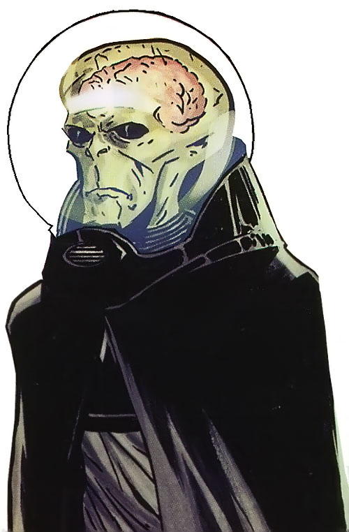 The Uranian of the Agents of Atlas (Marvel Comics) with his alien appearance