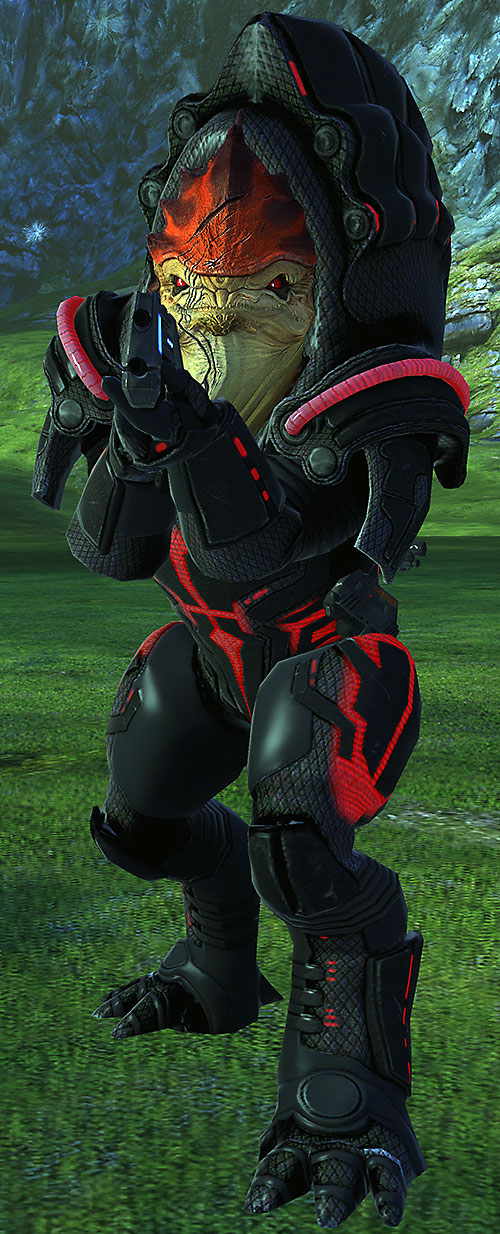 Urdnot Wrex (Mass Effect) high resolution model in Rage armor