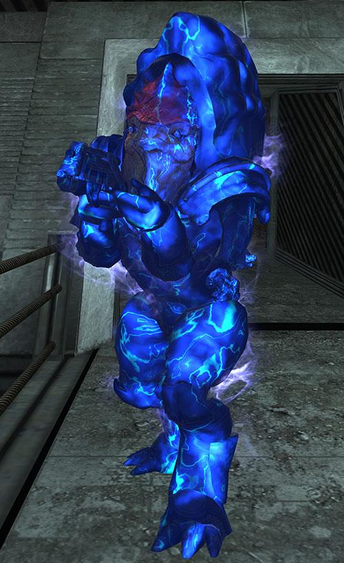 Urdnot Wrex (Mass Effect) with biotic barrier