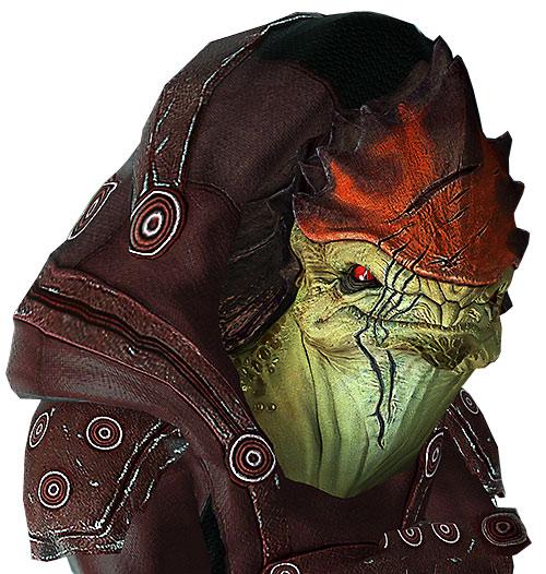 Urdnot Wrex (Mass Effect) face closeup