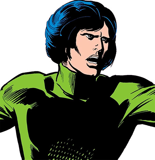 Uri Geller (Daredevil ally) (Marvel Comics) in a green turtleneck