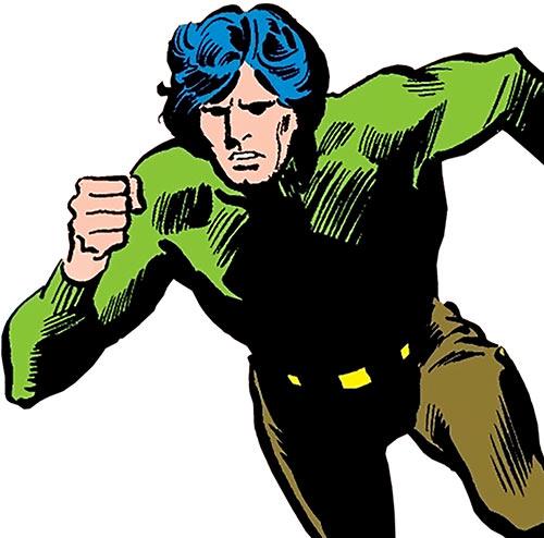 Uri Geller (Daredevil ally) (Marvel Comics) rushing in