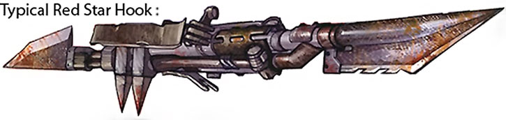 A hook weapon in the Red Star military