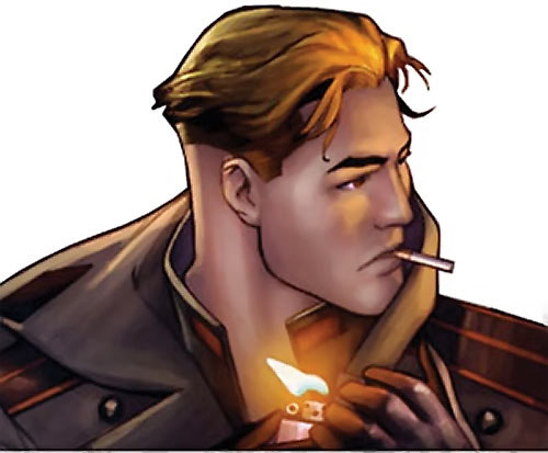 Urik Antares (The Red Star Comics) smoking