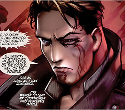 Urik Antares (The Red Star Comics) with a bloodied face