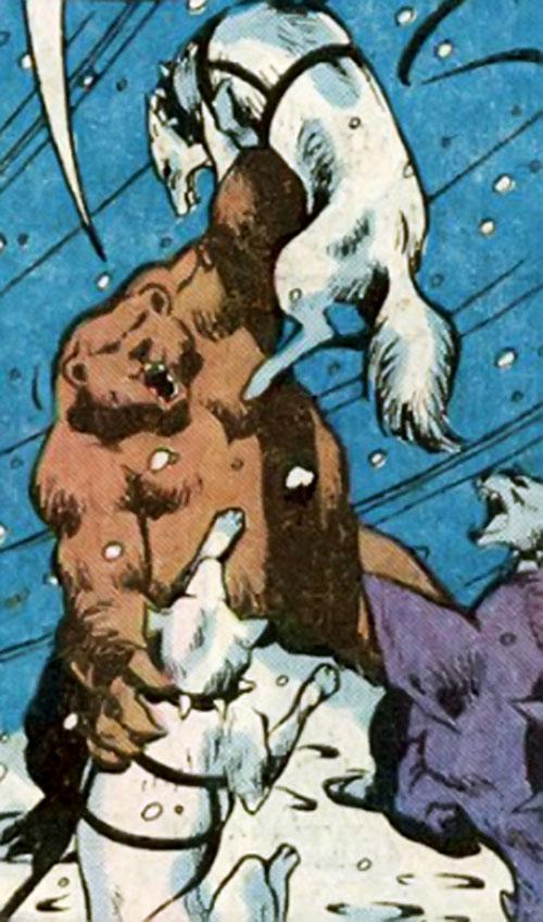 Ursa Major (Marvel Comics) (Soviet Super-Soldiers) vs. sled dogs