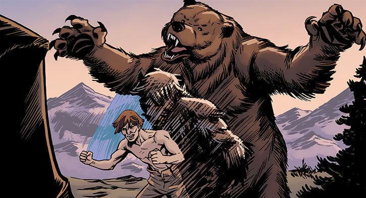 Ursa Major (Marvel Comics) (Russian superhero) as a teenager morphing