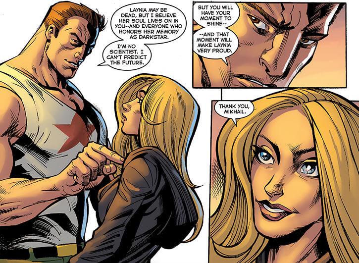 Ursa Major (Marvel Comics) (Russian superhero) with Darkstar Reena Stanicoff