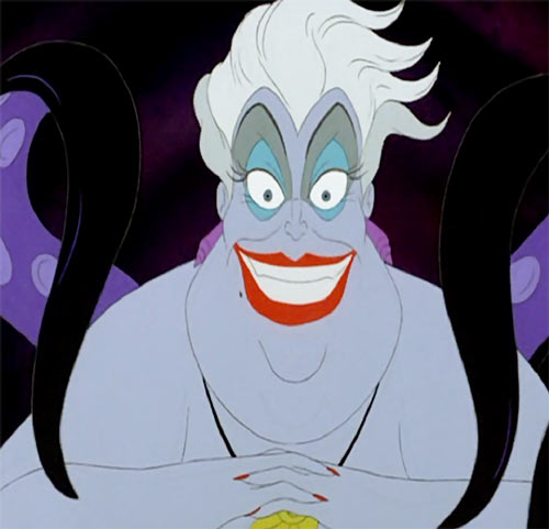 Ursula the sea witch (Disney's little mermaid) - grinning face closeup