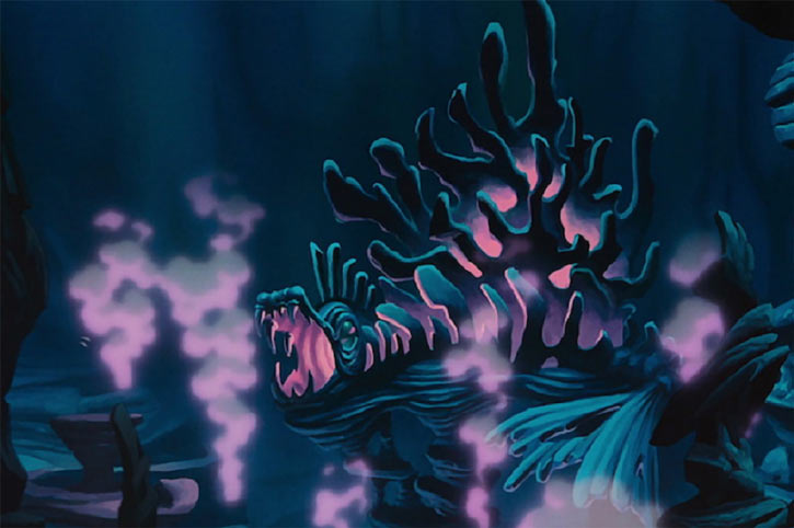 Ursula the sea witch (Disney's little mermaid) - undersea lair