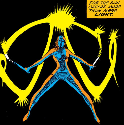 Ushas of the Living Goddesses (Iron Fist enemy) (Marvel Comics) with nunchaku in darkness 2/2