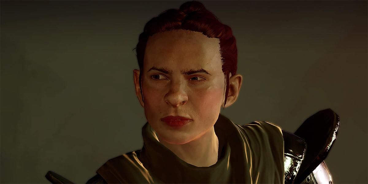 Utha (Dragon Age: the Calling) dwarf grey warden portrait reacts